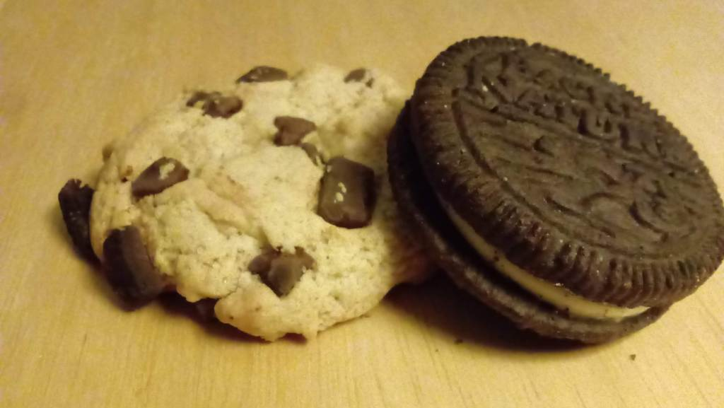 A photo of two Back to Nature cookies - Chocolate Chunk and Classic Creme. Ethical review of Back to Nature.