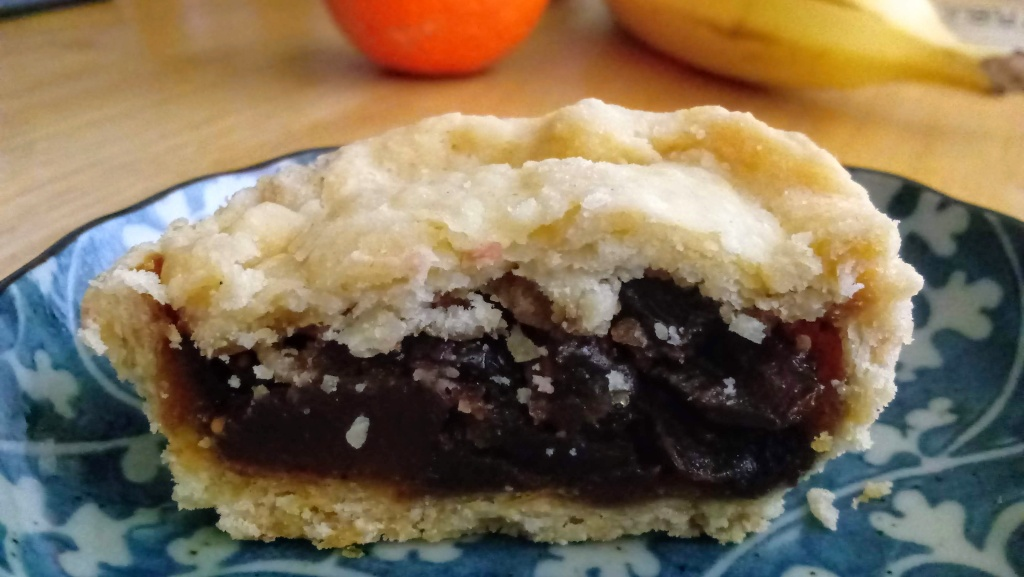 Nutiva Shortening was used to make the crust for the vegan mince pie shown. Nutiva Shortening is certified by Palm Done Right